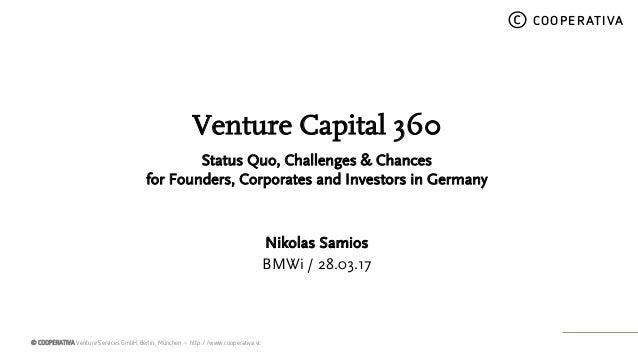 © COOPERATIVA Venture Services GmbH, Berlin, München – http://www.cooperativa.vc © COOPERATIVA Venture Capital 360 Status ...