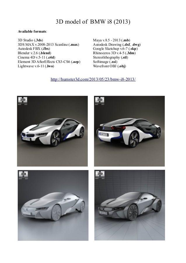 3d Model Of Bmw I8 2013