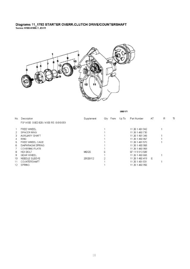 Bmw K 100 RS 2 valve 1983-1989-PARTS CATALOG