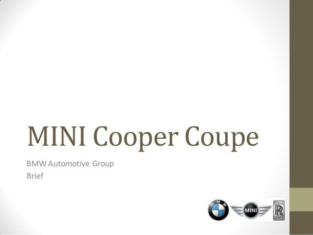 Bmw Mini Creative Brief Group Project