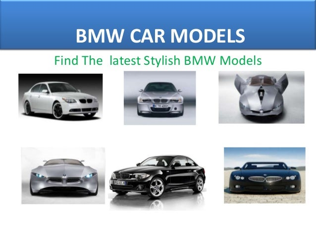 Different Models Of Bmw