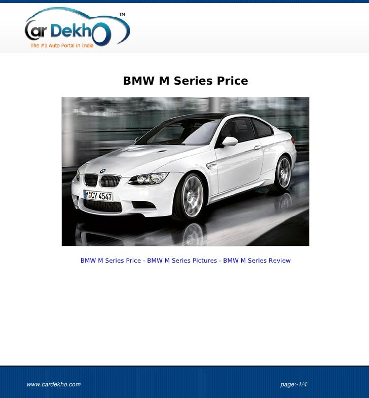 BMW M Series Price                   BMW M Series Price - BMW M Series Pictures - BMW M Series Reviewwww.cardekho.com     ...