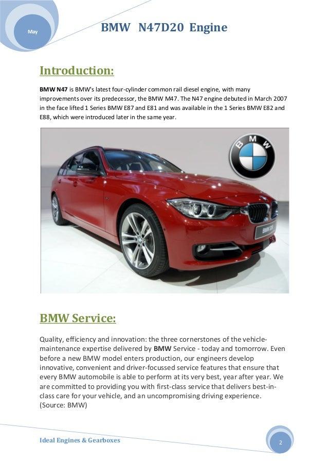 BMW N47D20 ENGINES