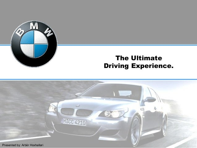 The Ultimate Driving Experience. Presented by: Arbër Hoxhallari