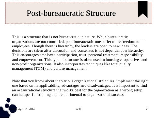 Research papers bureacratic stucture