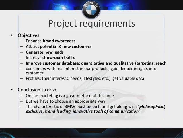 Bmw communication objectives