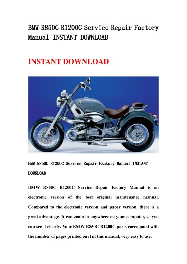 bmw r850 c r1200c service repair factory manual instant download rh slideshare net bmw r1200c service manual pdf r1200c owners manual pdf