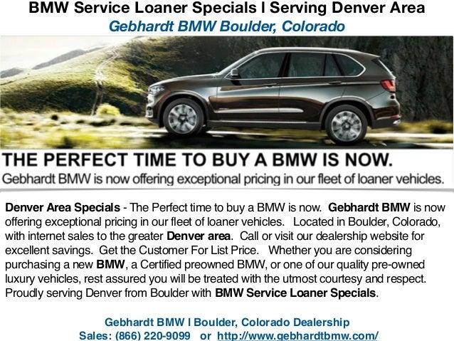 BMW Service Loaner Specials l Serving Denver, Colorado Area