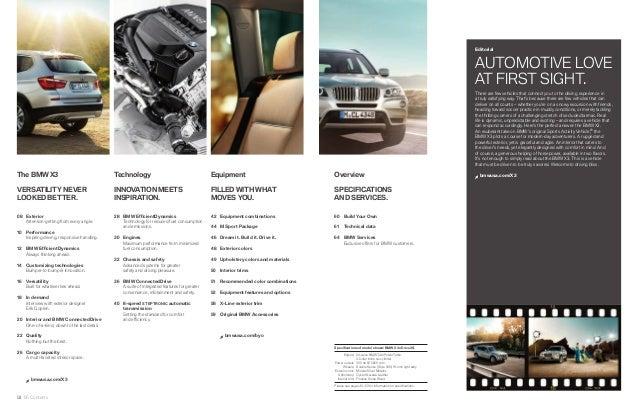 2013 Bmw X3 Brochure Ky Louisville Bmw Dealer