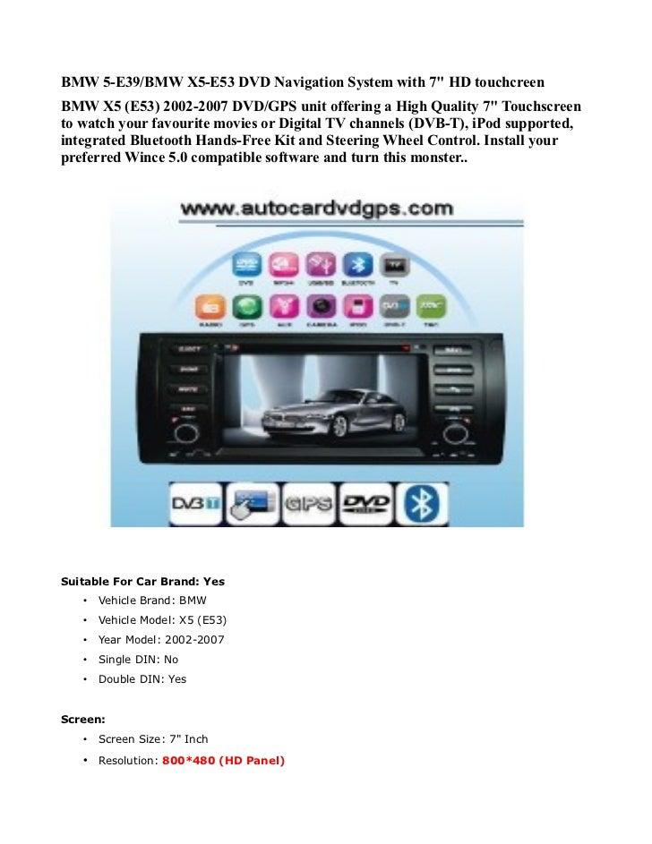 bmw x5 e53 2002 2007 autoradio car dvd gps