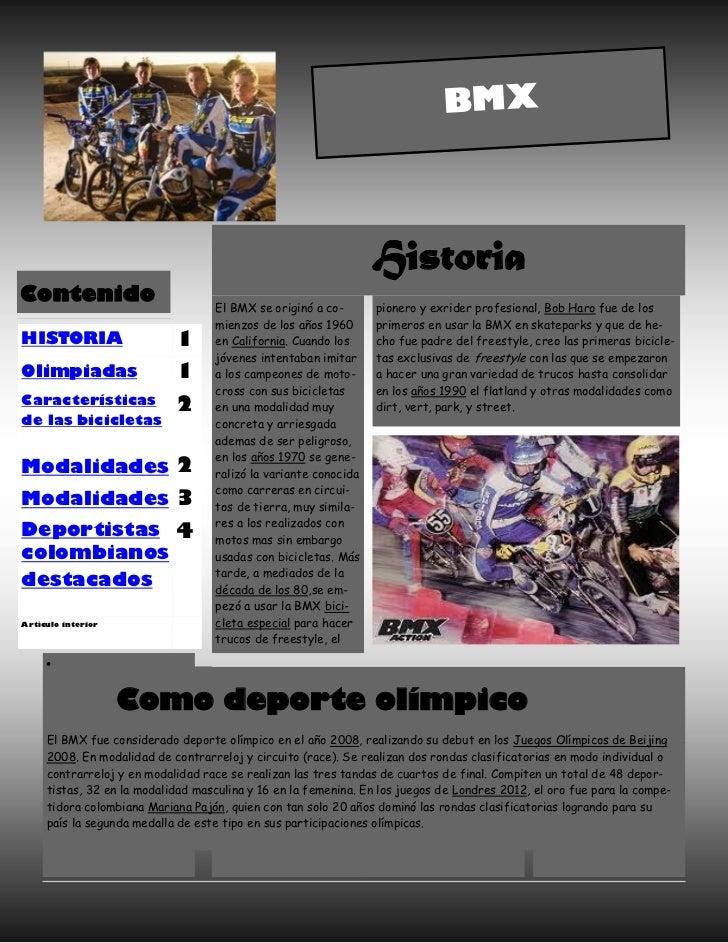 BMX                                                                 HistoriaContenido                                   El...