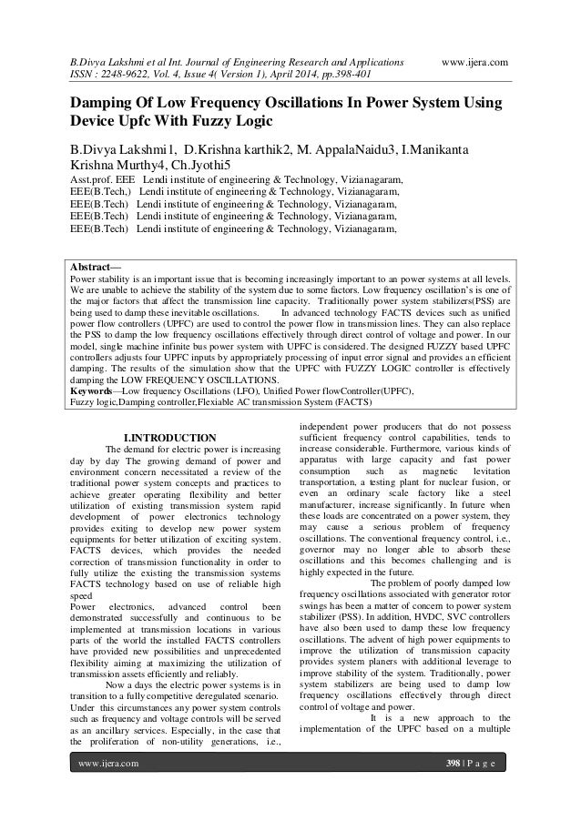B.Divya Lakshmi et al Int. Journal of Engineering Research and Applications www.ijera.com ISSN : 2248-9622, Vol. 4, Issue ...