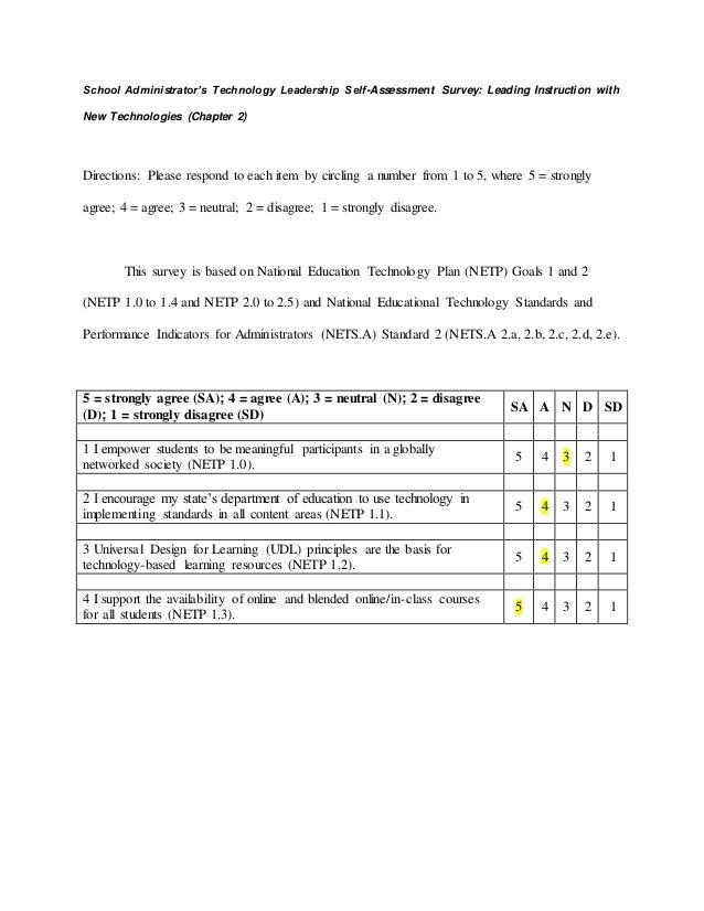 Self assessment survey-2.doc