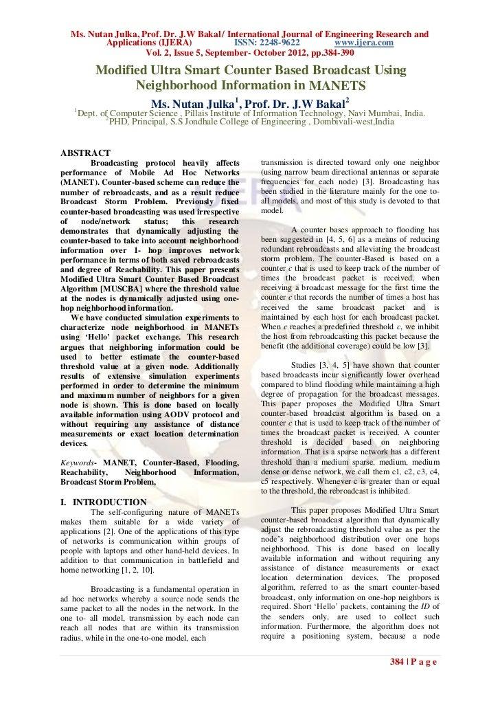 Ms. Nutan Julka, Prof. Dr. J.W Bakal / International Journal of Engineering Research and           Applications (IJERA)   ...
