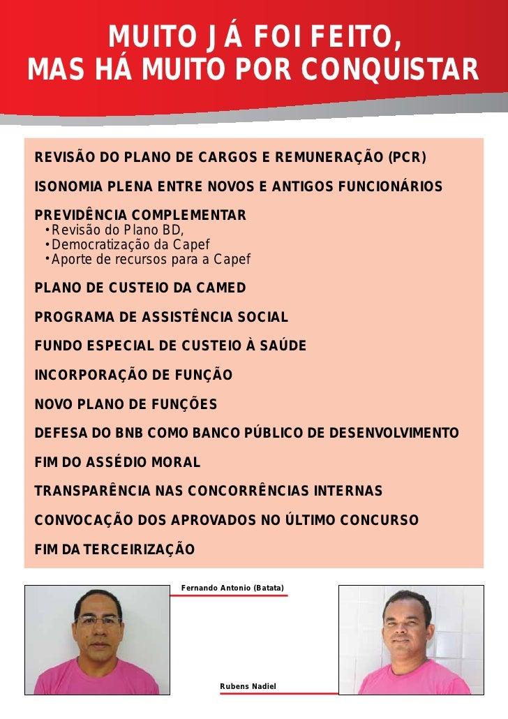 MUITO JÁ FOI FEITO,MAS HÁ MUITO POR CONQUISTARREVISÃO DO PLANO DE CARGOS E REMUNERAÇÃO (PCR)ISONOMIA PLENA ENTRE NOVOS E A...