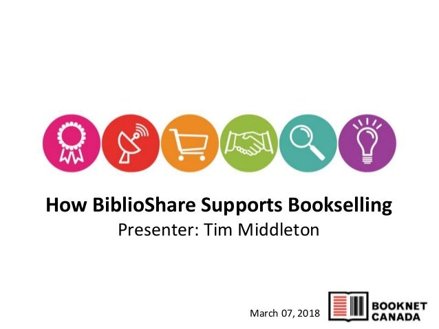 March 07, 2018 How BiblioShare Supports Bookselling Presenter: Tim Middleton