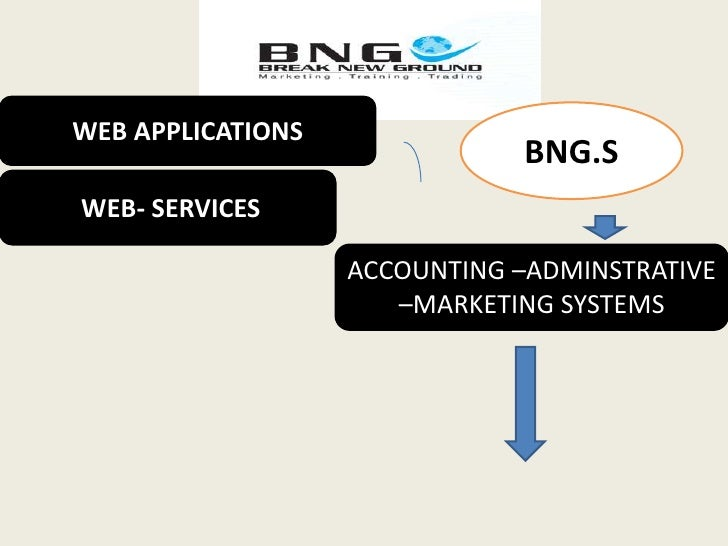 WEB APPLICATIONS <br />BNG.S<br /> WEB- SERVICES<br />ACCOUNTING –ADMINSTRATIVE –MARKETING SYSTEMS <br />