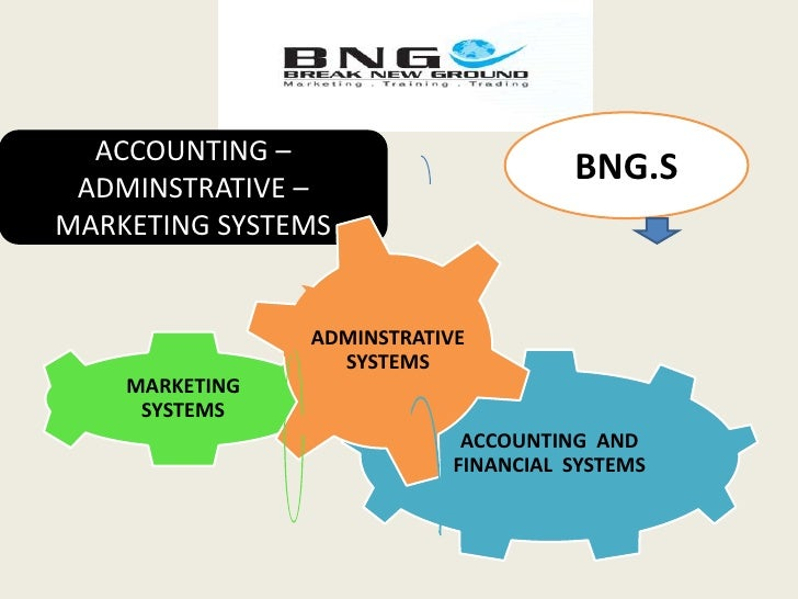 BNG.S<br />ACCOUNTING –ADMINSTRATIVE –MARKETING SYSTEMS <br />