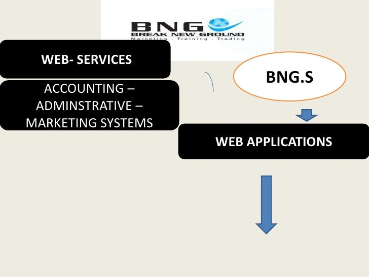 WEB- SERVICES<br />BNG.S<br />ACCOUNTING –ADMINSTRATIVE –MARKETING SYSTEMS <br />WEB APPLICATIONS <br />