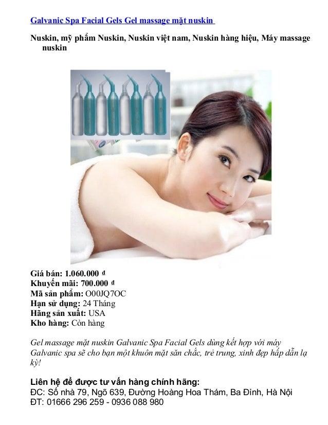 Galvanic Spa Facial Gels Gel massage mặt nuskin Nuskin, mỹ phẩm Nuskin, Nuskin việt nam, Nuskin hàng hiệu, Máy massage nus...