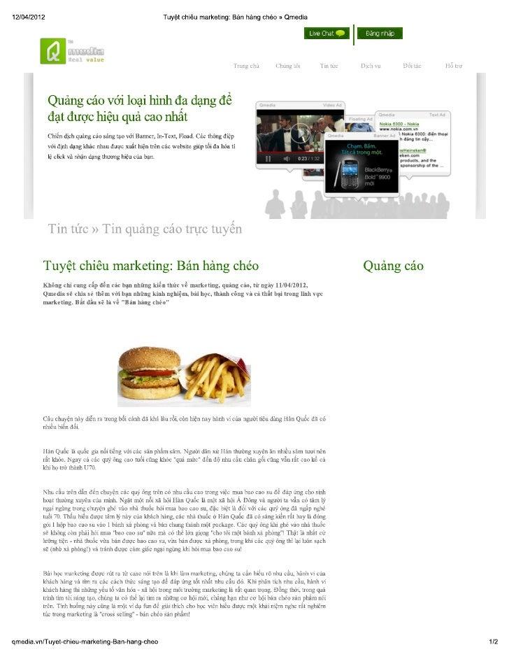 Tuyệt chiêu Marketing: Bán hàng chéo
