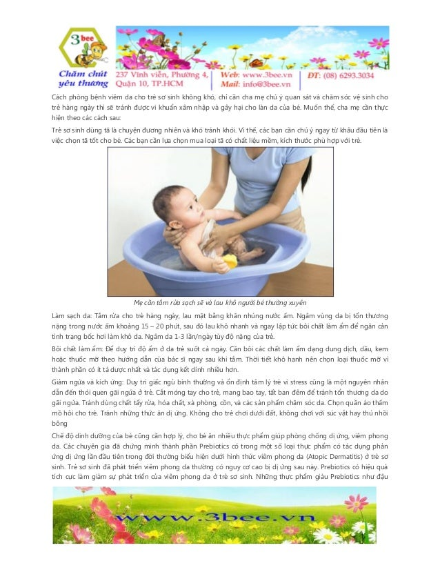 Cách phòng bệnh viêm da cho trẻ sơ sinh không khó, chỉ cần cha mẹ chú ý quan sát và chăm sóc vệ sinh cho trẻ hàng ngày thì...