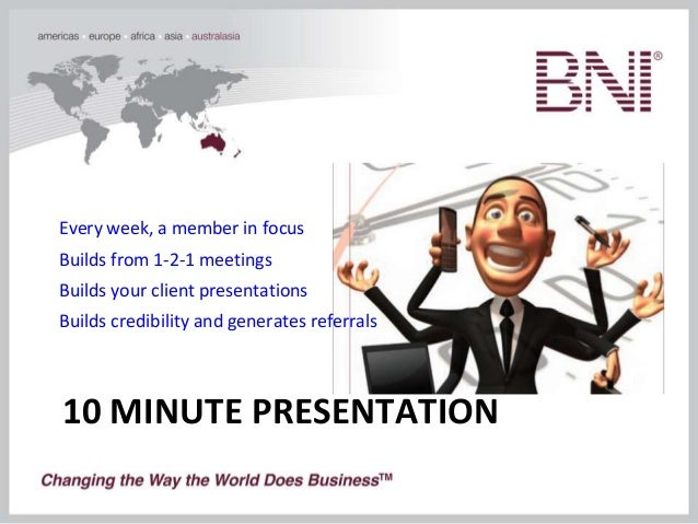 bni information overview, Presentation templates