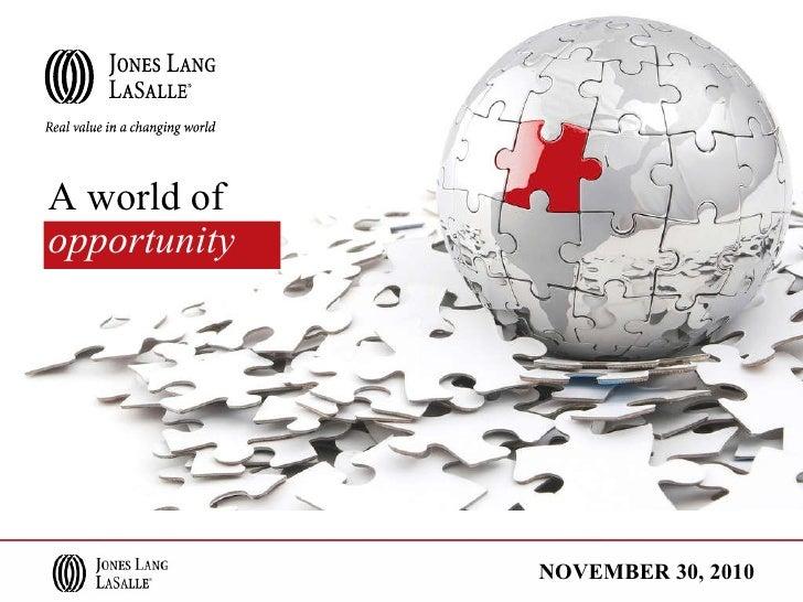 A world of   opportunity NOVEMBER 30, 2010