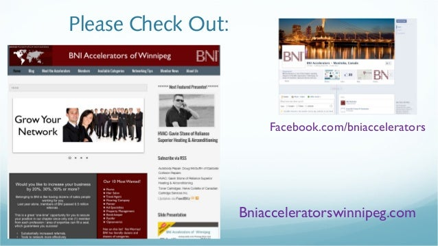 Bni Accelerators Of Winnipeg