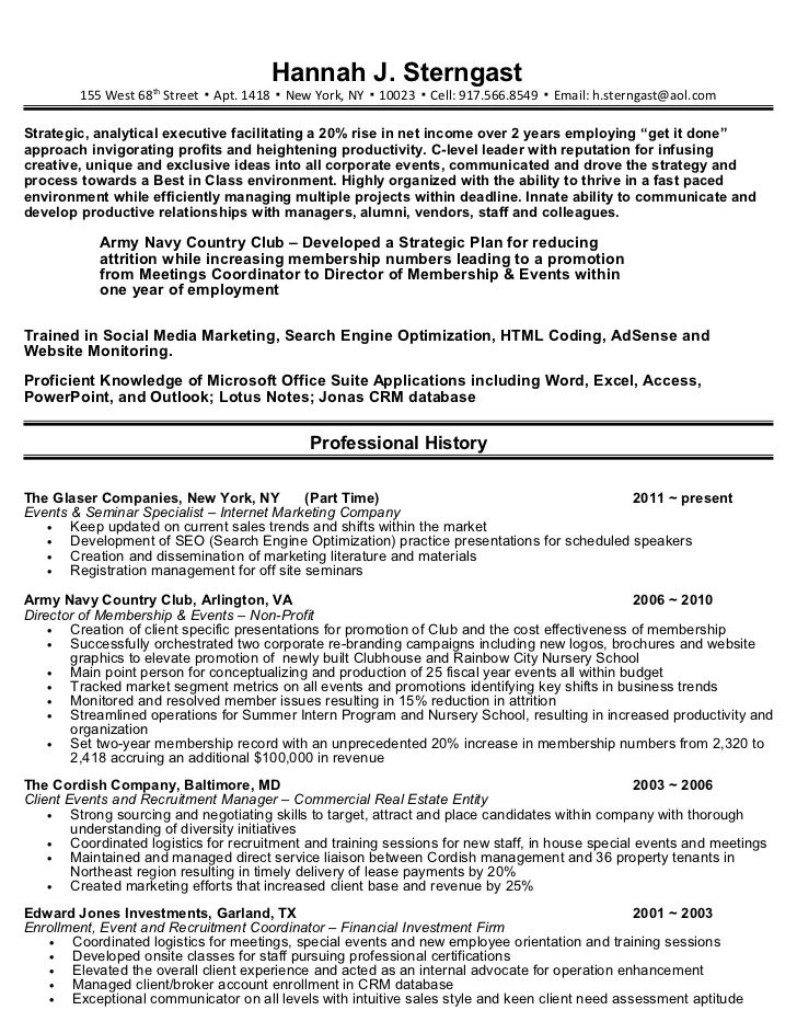Speaking Engagements On Resume Examples