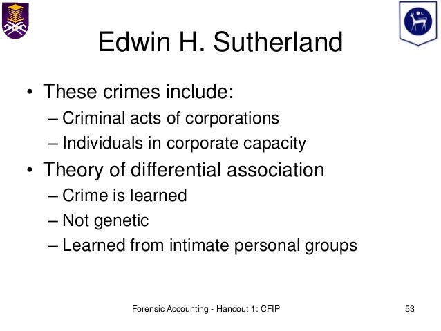 E h sutherland white collar crime