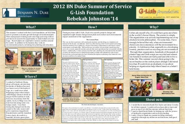 2012 BN Duke Summer of Service                                                                                   G-Lish Fo...