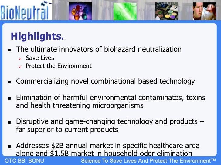 BioNeutral Group (OTCBB: BONU; Twitter $BONU) Slide 3
