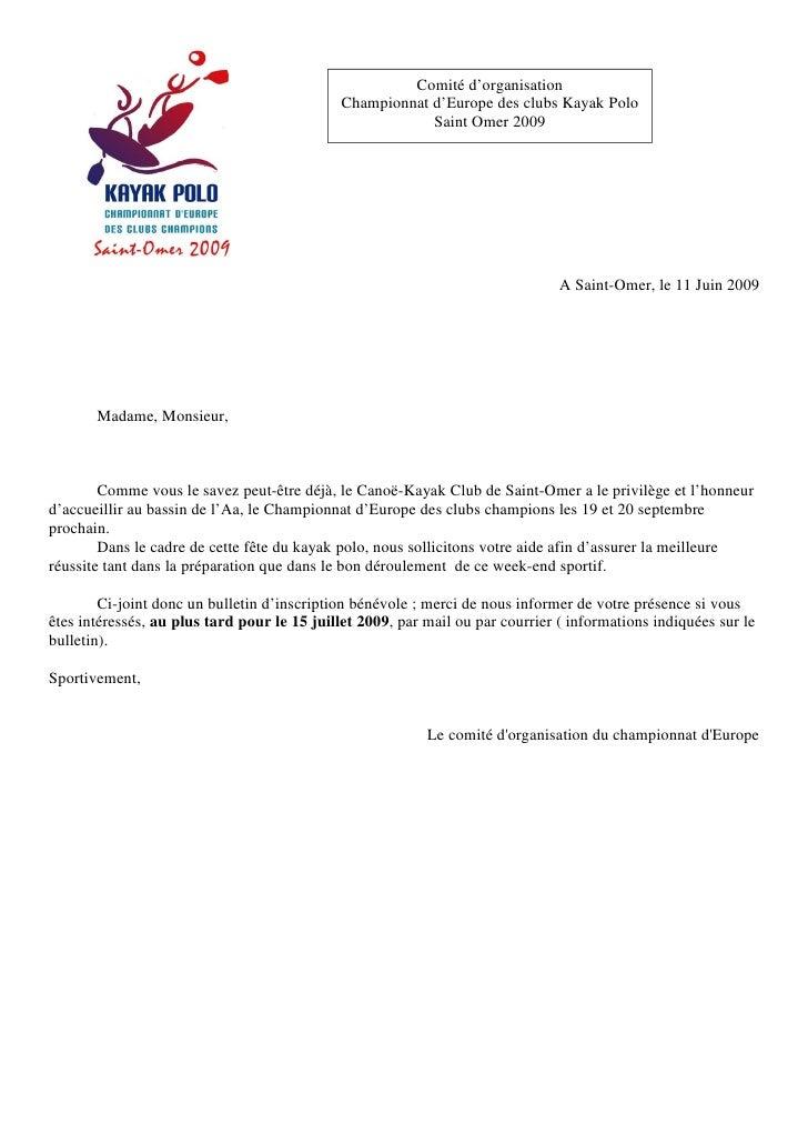 Comité d'organisation                                              Championnat d'Europe des clubs Kayak Polo              ...