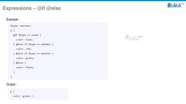 Expressions – @if @else Example : Output :
