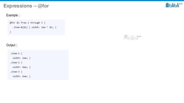 Expressions – @for Example : Output :