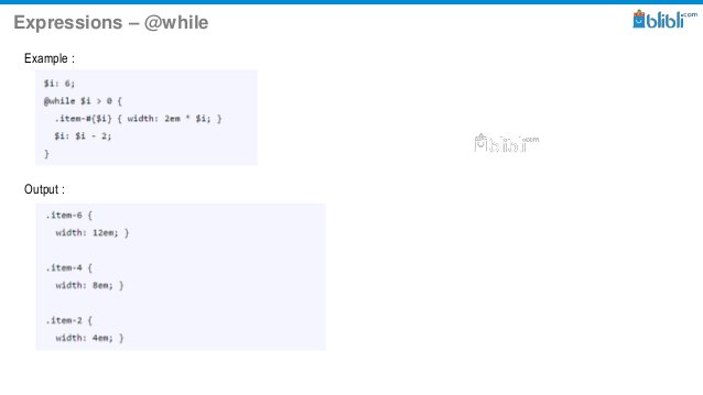 Expressions – @while Example : Output :