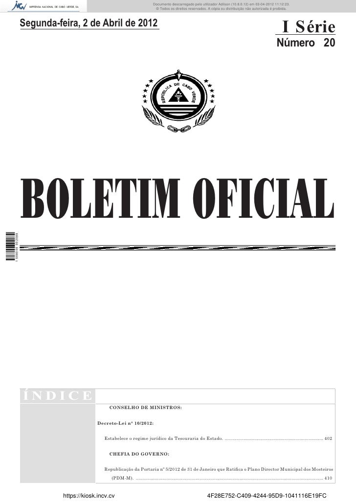 Documento descarregado pelo utilizador Adilson (10.8.0.12) em 03-04-2012 11:12:23.                                        ...