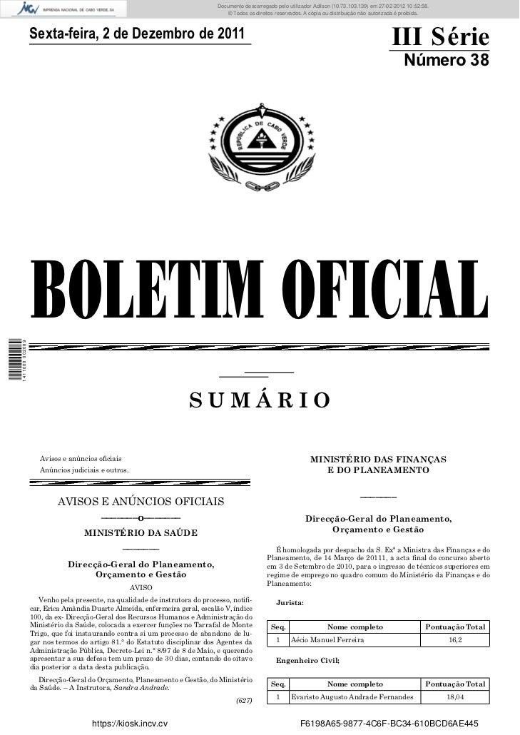 Documento descarregado pelopelo utilizador Adilson (10.73.103.139) em 27-02-2012 10:52:58.                                ...