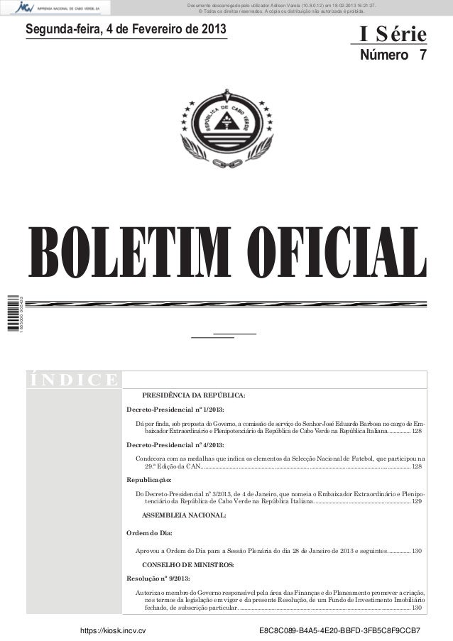 Documento descarregado pelo utilizador Adilson Varela (10.8.0.12) em 18-02-2013 16:21:27. © Todos os direitos reservados. ...