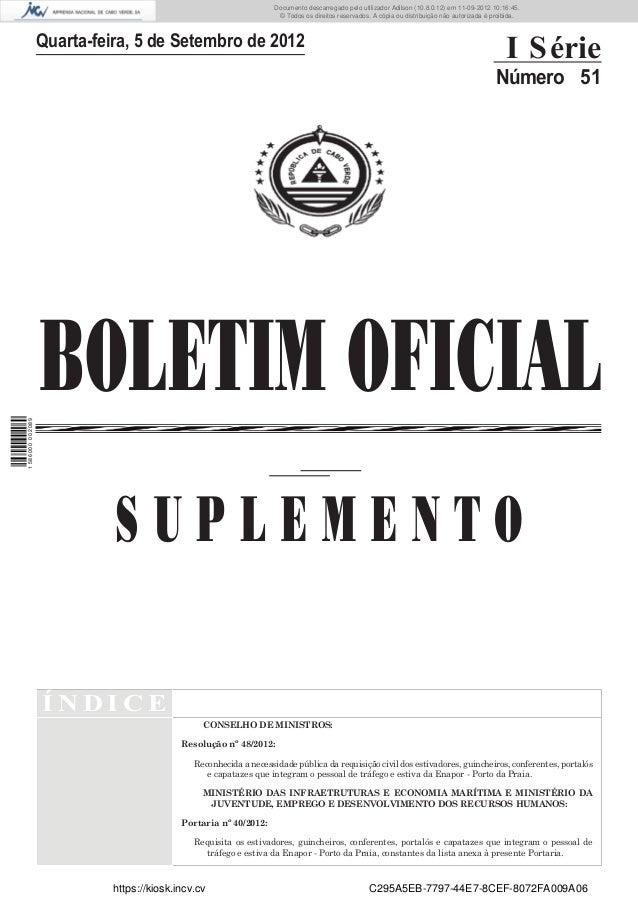 Documento descarregado pelo utilizador Adilson (10.8.0.12) em 11-09-2012 10:16:45.                                        ...