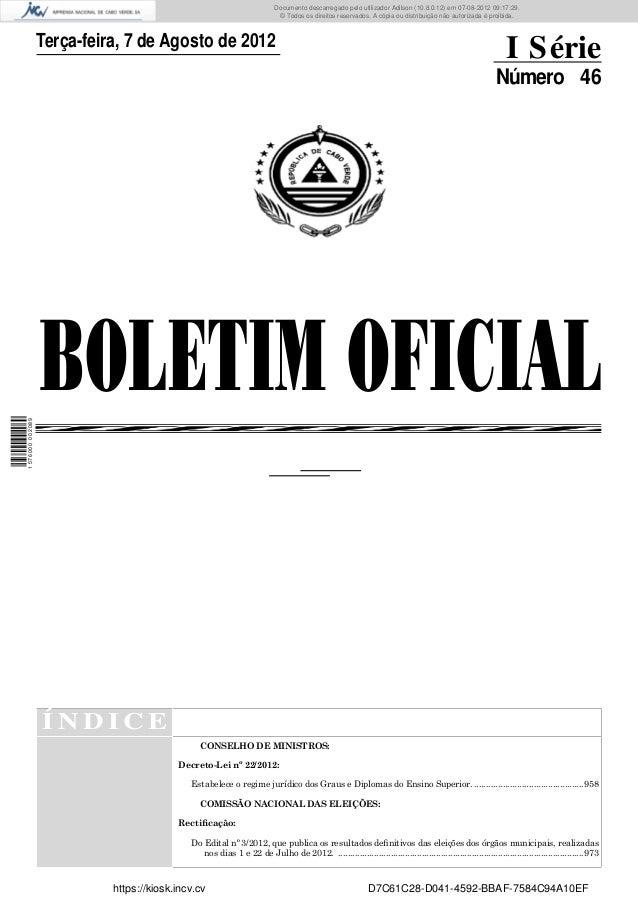 Documento descarregado pelo utilizador Adilson (10.8.0.12) em 07-08-2012 09:17:29.                                        ...