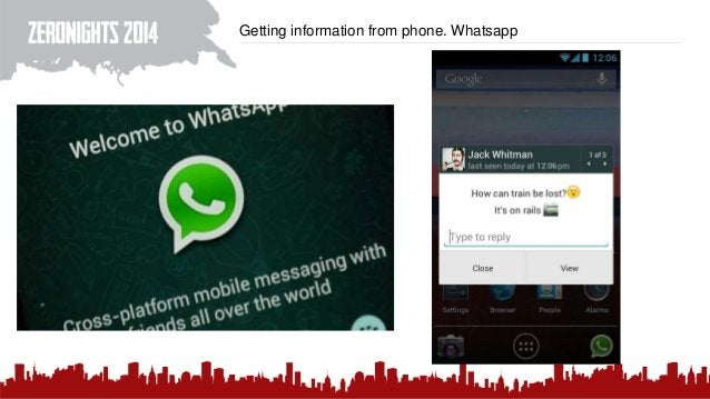 Getting information from phone. Whatsapp