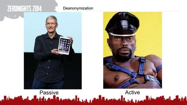 Deanonymization Passive Active