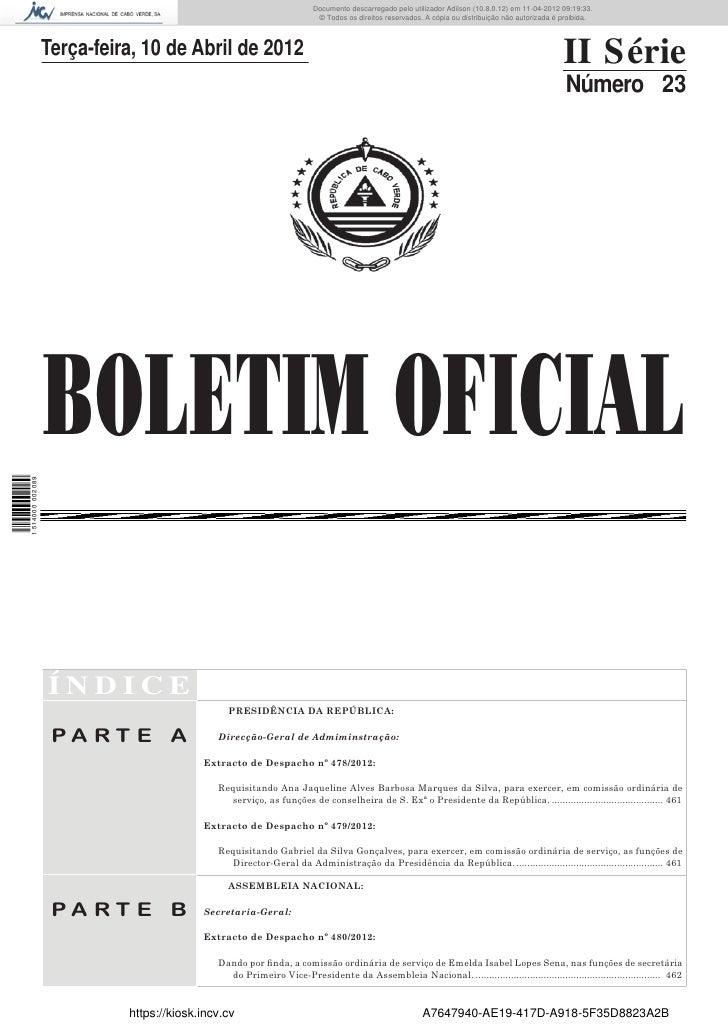 Documento descarregado pelo utilizador Adilson (10.8.0.12) em 11-04-2012 09:19:33.                                        ...