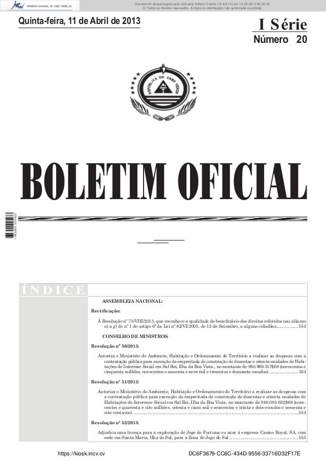 Documento descarregado pelo utilizador Adilson Varela (10.8.0.12) em 12-04-2013 08:28:28. © Todos os direitos reservados. ...