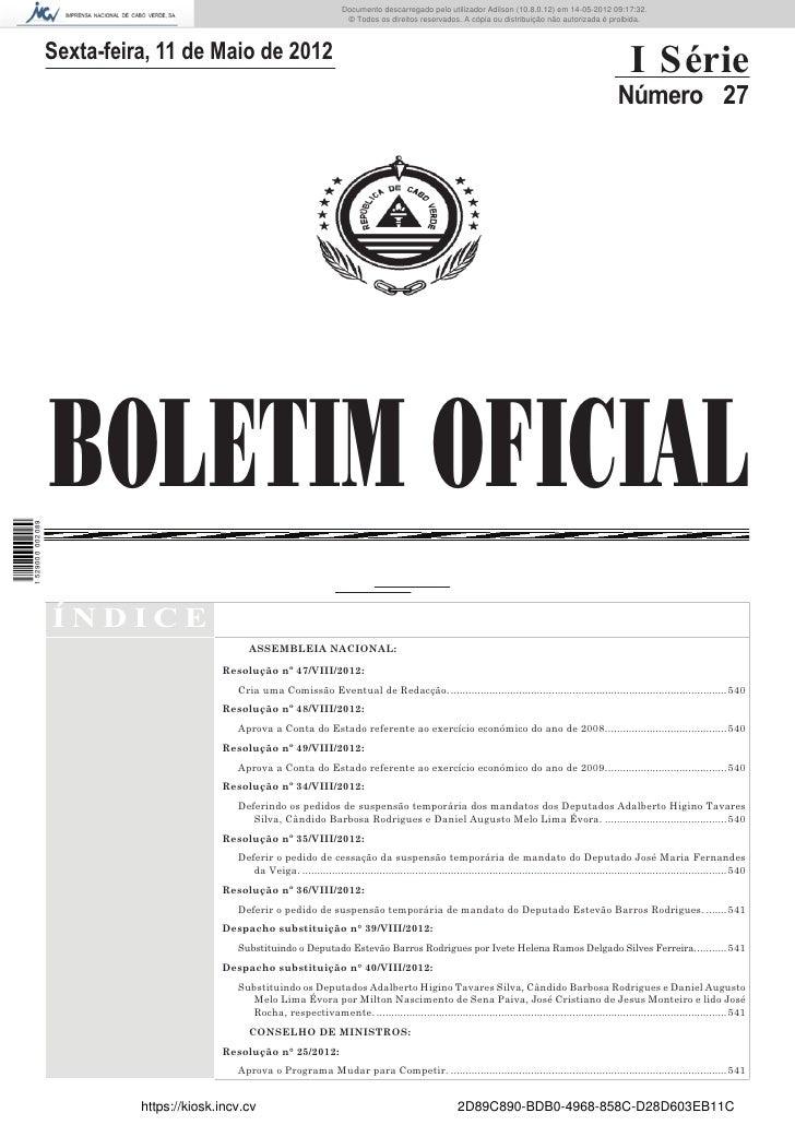 Documento descarregado pelo utilizador Adilson (10.8.0.12) em 14-05-2012 09:17:32.                                        ...