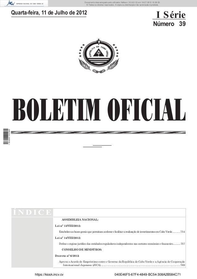 Documento descarregado pelo utilizador Adilson (10.8.0.12) em 16-07-2012 10:26:52.                                        ...