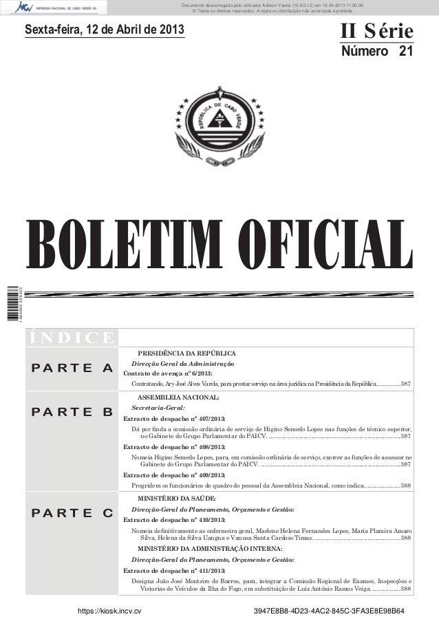 Documento descarregado pelo utilizador Adilson Varela (10.8.0.12) em 16-04-2013 11:50:09. © Todos os direitos reservados. ...