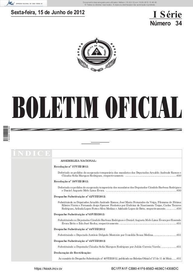 Documento descarregado pelo utilizador Adilson (10.8.0.12) em 15-06-2012 13:40:42.                                        ...